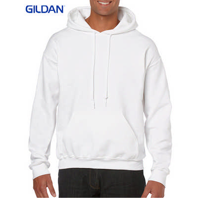 Gildan Heavy Blend Adult Hooded Sweatshirt White (18500_WHITE_GILD)